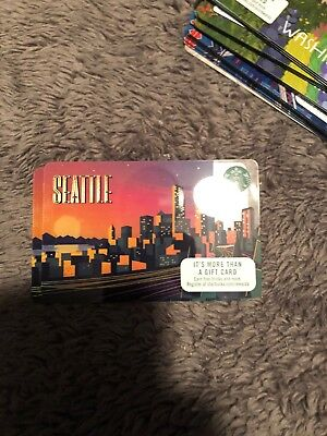 "NEW 2017 Starbucks Seattle ""Gift Card"" -NO CASH VALUE New Used Unswiped"