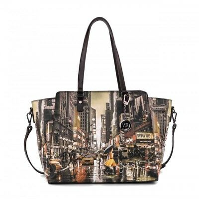 BORSA Y NOT New York Yellow k-398 Shopping grande - EUR 94 b3f1ec840a7
