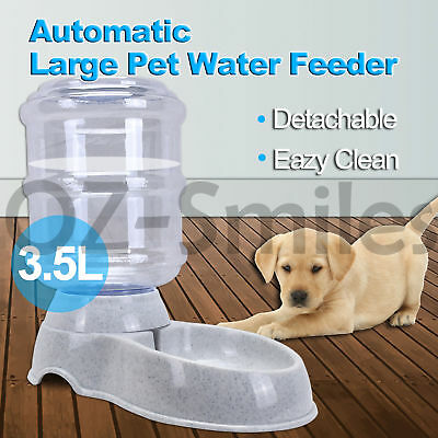 3.5L Automatic Pet Feeder Dispenser Waterer Dog Cat Self Feeding Food Water Bowl
