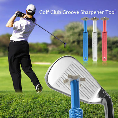 Steel Wedge Golf Club Groove Sharpener Tool with 6 Cutters for Optimal Backspin