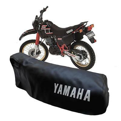 YAMAHA XT600 43f 1984-1989 BLACK SEAT COVER with WHITE YAMAHA LOGOS