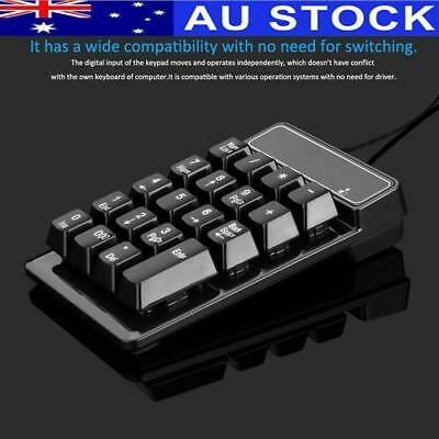 Mini Wired USB Numeric Keypad Numpad Number 19 Keys Pad For Laptop Notebook AU!