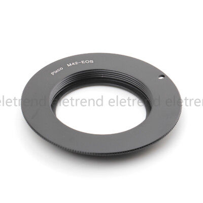 M42 screw mount Lens to Canon EOS EF mount camera adapter 350D 40D 30D 20D T3i