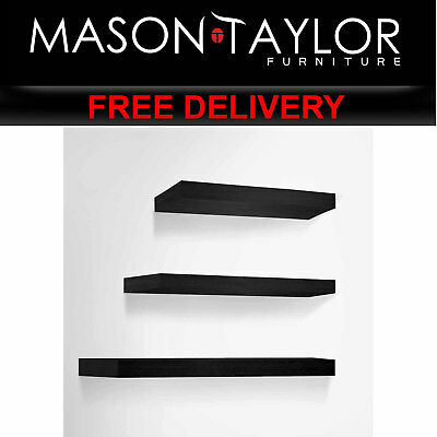 MT 3 Piece Floating Wall Shelves - Black AU FURNI-WALL-SHELF-BK AU