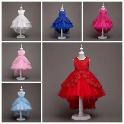 Baby Girls Princess Pageant Dress Kids Party Wedding Bridesmaid Tulle Tutu Dress