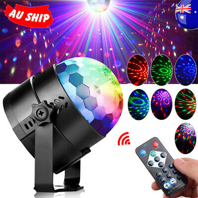 AU RGB LED Disco Ball DJ Party Light Effect Strobe Remote Sound Activated Auto