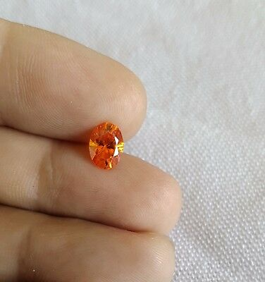 1pcs 1.44ct 8x6 loose Citrine stone, Natural Oval gemstone, Beautiful stone