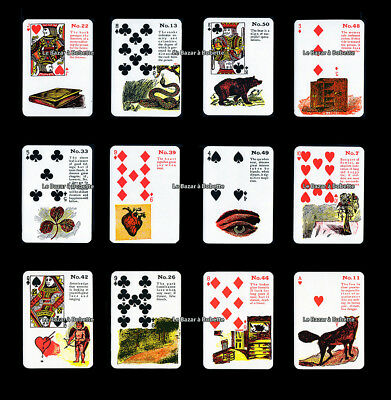 TAROT-JEU DIVINATOIRE-ORACLE TZIGANE Gypsy Witch Fortune Telling Cards 52 Cartes
