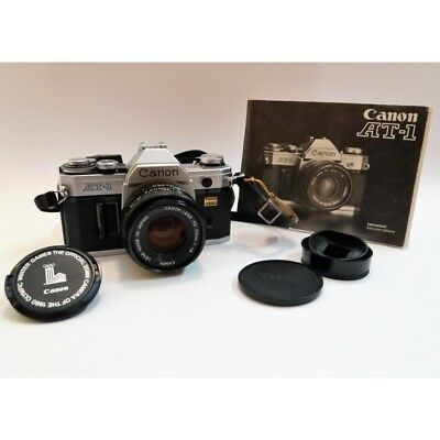 CANON AT-1 SLR CAMERA 35mm SLR - OBJECTIVE FD 50mm 1:1.8 MADE IN JAPAN