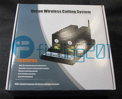 NEW 20 Restaurant Coaster Pager Guest Wireless Paging Queuing Calling System