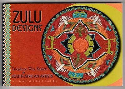 ZULU DESIGNS: Telephone Wire Baskets by S.African Artists ... book of Postcards