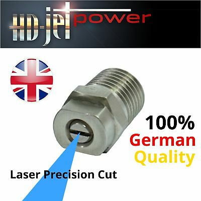 "High Pressure Washer Jet Spray NOZZLE High Quality 1/4"" ALL SIZES / FAN WIDTHS"