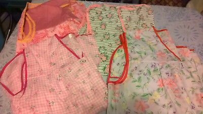 Vintage Lot of 4 Full Size Aprons Size 2X made by Butterfly LotJ