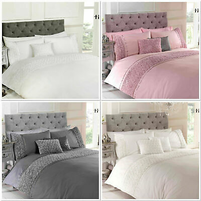 Belle Maison Limoges Ruffle Quilt Cover Luxury Bedding Set ~ ALL SIZES FREE P&P