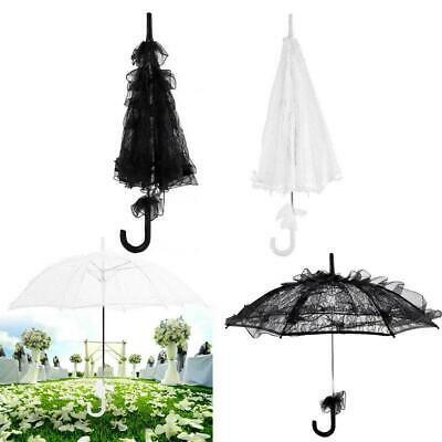 Vintage Hollow White Lace Sun Umbrella Princess Parasol Wedding Party Decor