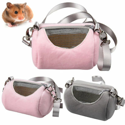 Travel Pet Hamster Carrier Bag Hedgehog Chinchilla Mesh Cage Sleeping Pouch BF