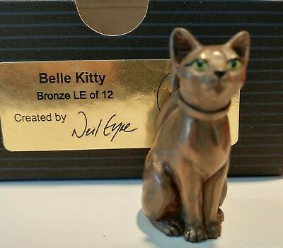 Harmony Kingdom Artist Neil Eyre Designs Belle Kitty bronze limited to 12. 2006