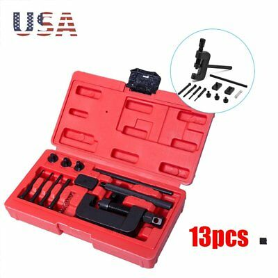 Automotive Hand Tools Chain Breaker Riveting Tool Cutter OHV Cam Drive Motorcycle Link Separator 13 pc