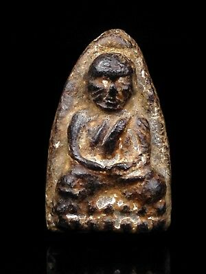 thai buddha amulet old Magic Powder PHRA LP Tuad maestro Fetish HolyPOWERFUL