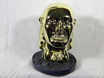 Indy  Aztec Idol Of Fertility Replica, Shiny Plated Version, With Jungle Stand