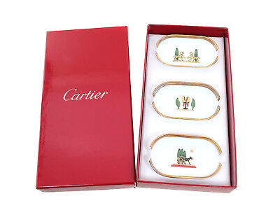 Cartier Limited Edition Limoges Porcelain Ash Trays  x 3 with box