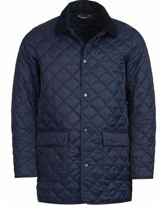 NWT BARBOUR Men's DARK BLUE THURLAND QUILTED JACKET SZ. M