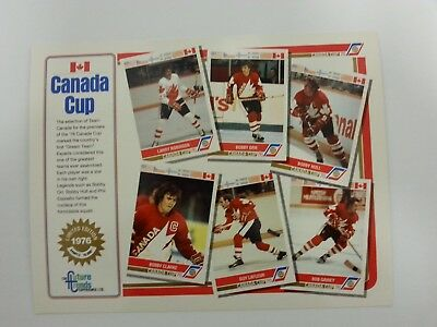 1991-92 Future Trends 1976 Canada Cup Hockey Promotional Sheet