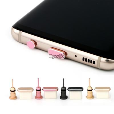 Aluminium Alloy Type-C Anti Dust Plug with SIM Card Tool for Mobile Phone MSF