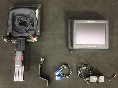 """Prompter People ProLine 12"""" Teleprompter & NEW HighBright Screenw/ Hard Case"""