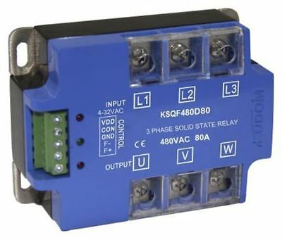 Kudom 80 A Solid State Relay, Zero Cross, Panel Mount SCR, 530 V ac Maximum Load
