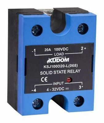 Kudom 20 A Solid State Relay, Zero, Panel Mount, 100 V dc Maximum Load