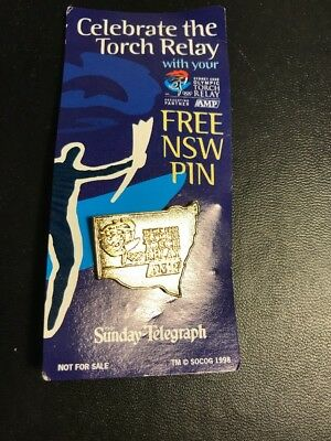 Sydney 2000 OLYMPIC TORCH RELAY NSW COLLECTORS PIN BADGE Celebrate The GAMES