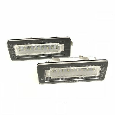 Fits Smart Car Fortwo 450 451 04-15 18 Xenon LED Number Licence Plate Units