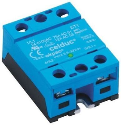 Celduc 60 A Solid State Relay, Zero Crossing, Chassis Mount Triac, 510 V rms Max