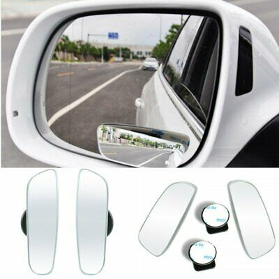 2x Auto 360° Wide Angle Convex Rear Side View Car Truck SUV Blind Spot Mirror