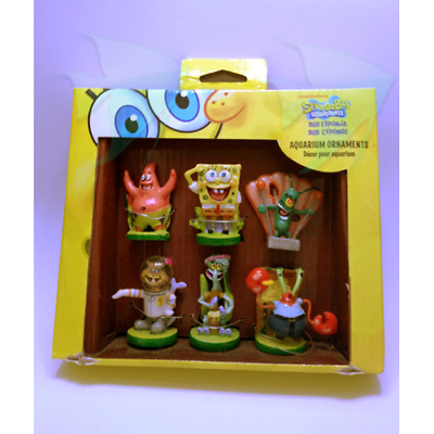 Penn Plax Sponge Bob Mini Resin Gift Pack - Squidward Fish Tank Aquarium