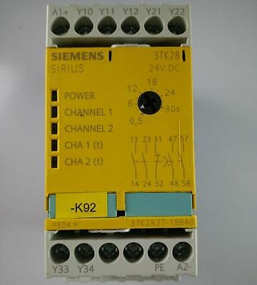 Used Siemens safety relay 3TK2827-1BB40 Tested