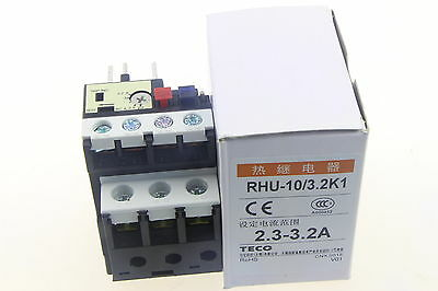 1PCS NEW TECO RHU-10/3.2K1 2.3-3.2A Thermal Overload Relay