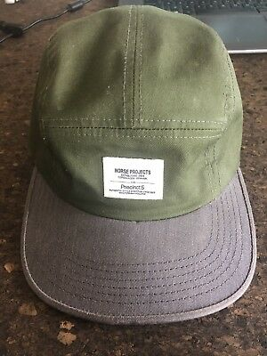 a7b7d1e51c9 Norse Projects x Precinct 5 Gee Cap - Green   Blue 5 Panel Rare Vintage Hat