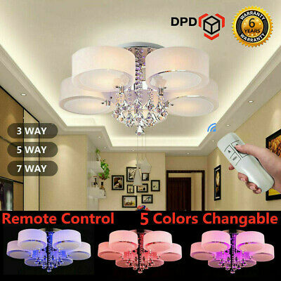 3/5/7 Way LED Crystal Ceiling Lights Chandeliers Lamp Kitchen Living/Bed Room UK