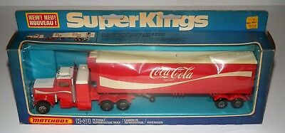 1978 MATCHBOX Coca-Cola SUPER KINGS K-31 Peterbilt truck in box