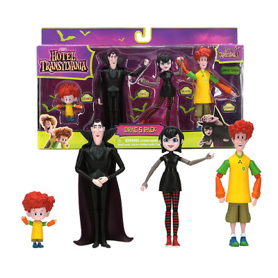 Hotel Transylvania 3 Drac's Pack 4PCS Action Figure Mavis, Drac, Johnny, Dennis