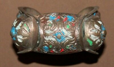 Antique Greek Folk Hand Made Bronze Crusader Fertility Bracelet