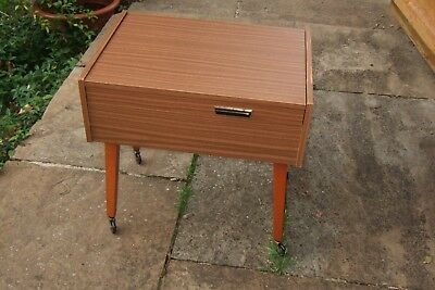 FABULOUS 1960s FORMICA SEWING BOX. East German. Folding. Good Condition.