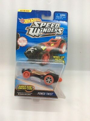 Hot Wheels Speed Winders POWER TWIST Rubber Band Powered Car NEW Sealed