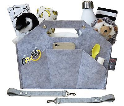 Baby Diaper Caddy Organizer with Adjustable Hanging Straps & Snaps for Crib,