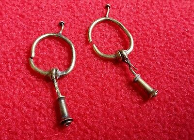 Antique gold. Metal detector finds,Gold earrings