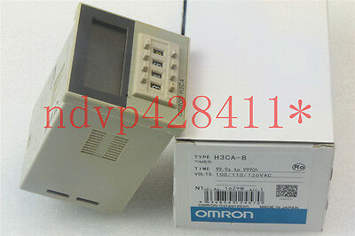 OMRON H3CA-8 Timer 100/110/120VAC NEW IN BOX