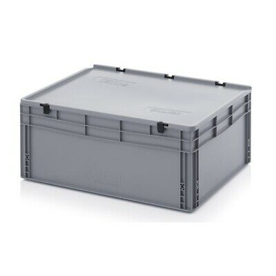 Transport Containers 80x60x33, 5 with Lid Plastic Transport Case Box 800x600x335