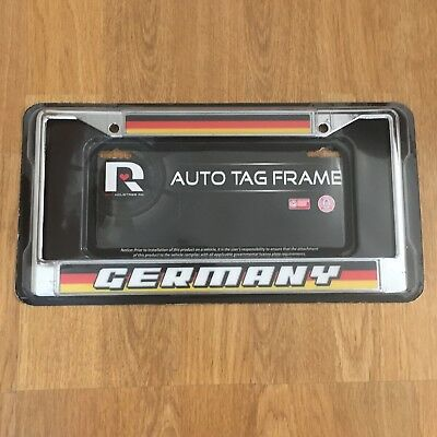 GERMANY License Plate Frame Fussball Soccer Deutschland Car BMW Audi Mercedes